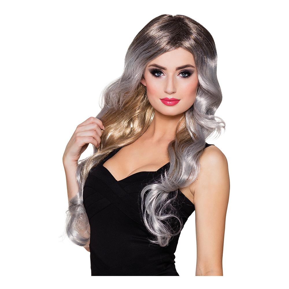 Ariana Grå/Blond/Brun Peruk - One size