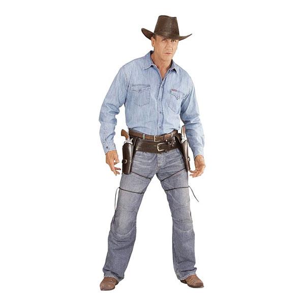 Autentiskt Cowboyhölster Dubbel thumbnail