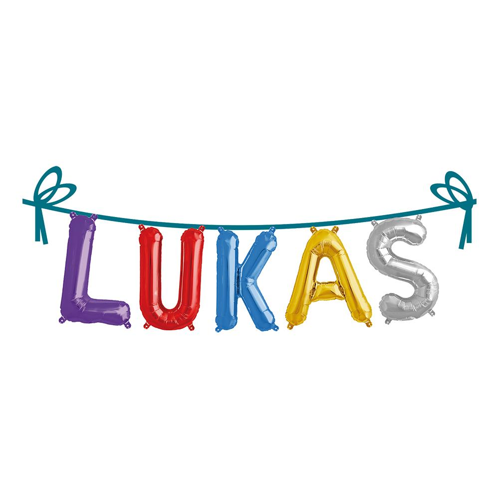 Folieballong Girlang Namn - Lukas