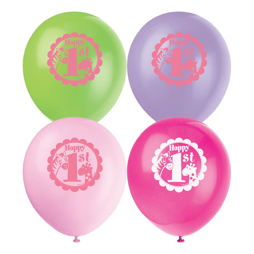 Ballonger 1-årskalas - 8-pack