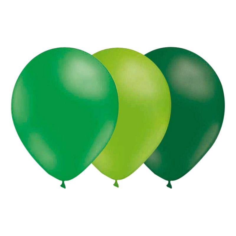 Ballongkombo Grön-Limegrön-Mörkgrön - 15-pack