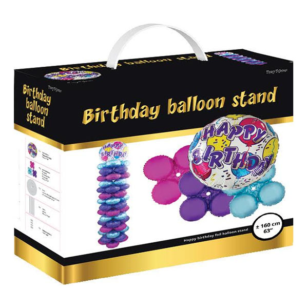 Ballongställ Happy Birthday