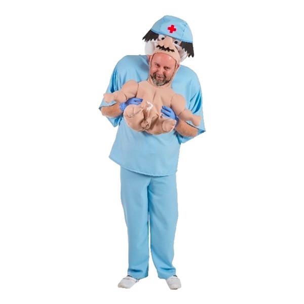 Barnmorska med Bebis Maskeraddräkt - One size