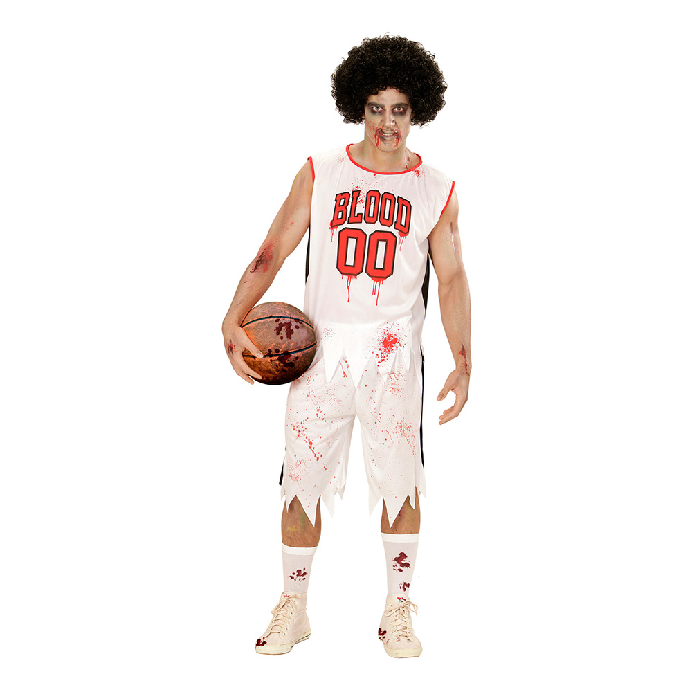 Basketspelare Zombie Maskeraddräkt - Small