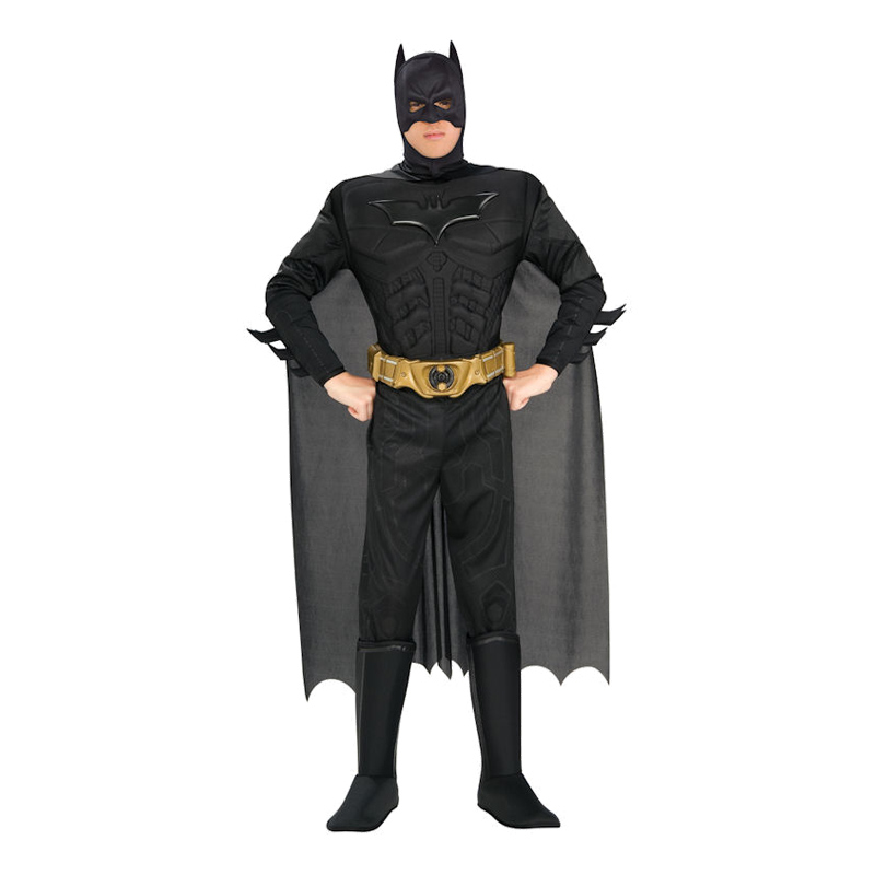 Batman Dark Knight med Muskler Maskeraddräkt - Medium