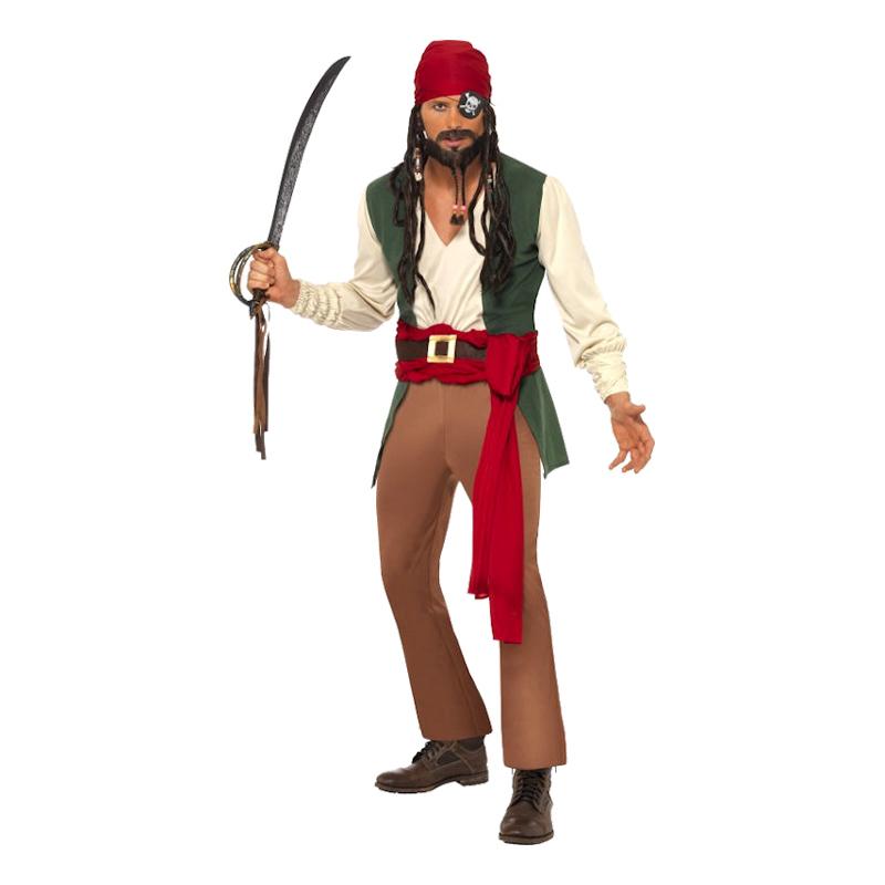Berusad Pirat Maskeraddräkt - Medium