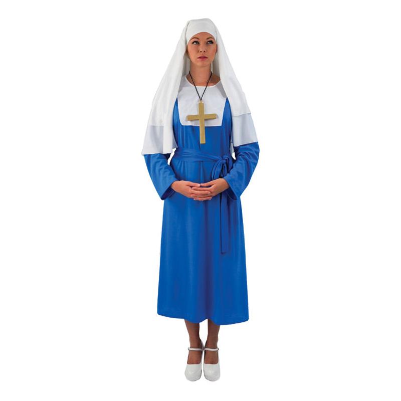 Inhandla Blå Nunna Maskeraddräkt - One size till billigaste pris. Se våra  priser på Maskeradkläder för tjejer! 5a023ed50ab14