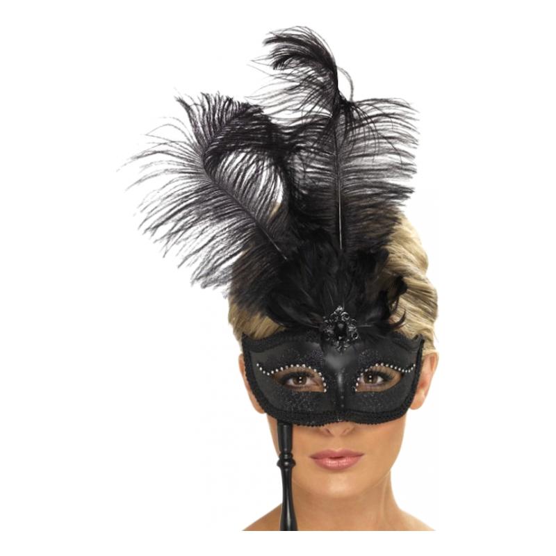 Svart Barock Ögonmask - One size