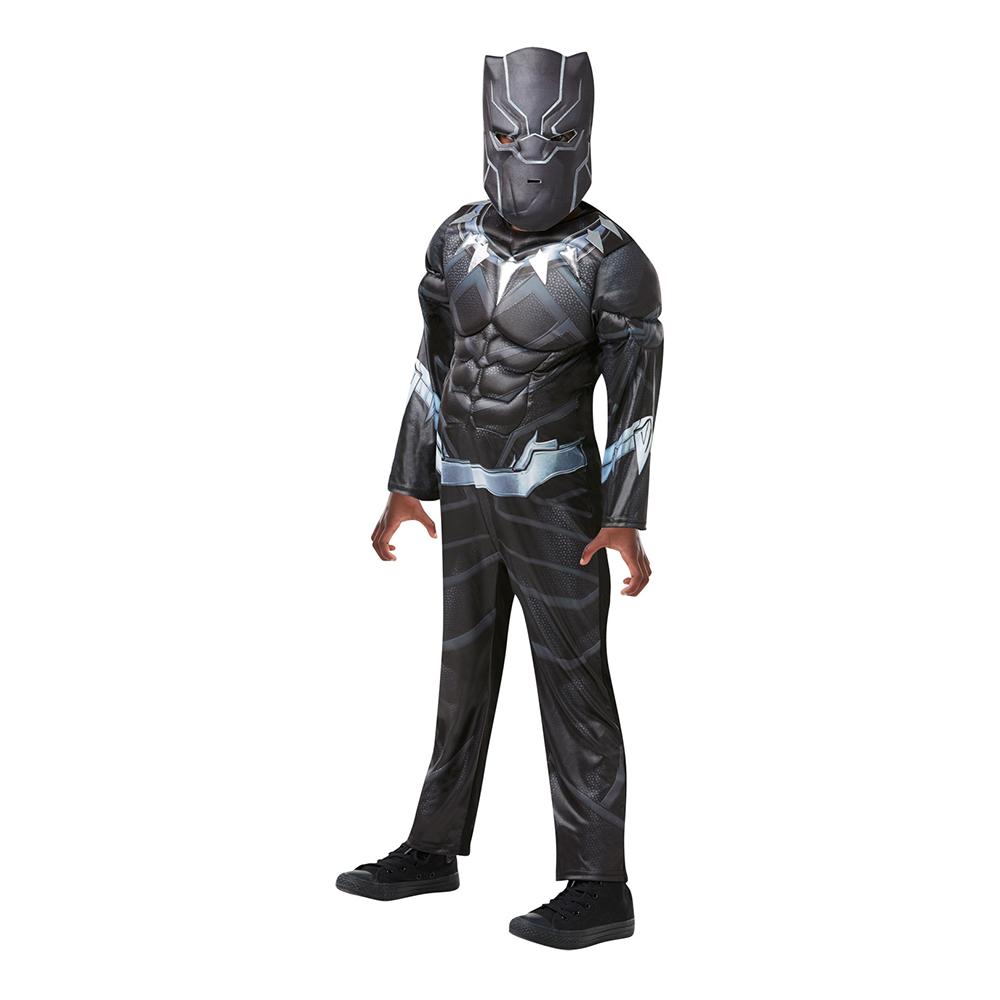 Black Panther Deluxe Barn Maskeraddräkt - Medium