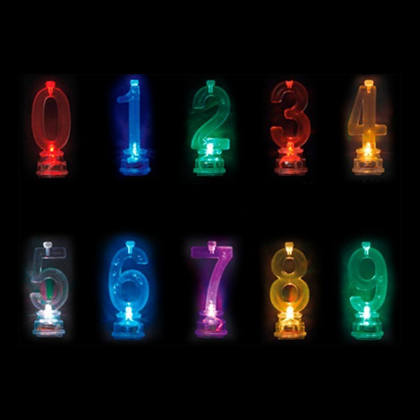 Blinkande Ljushållare - Siffra 1
