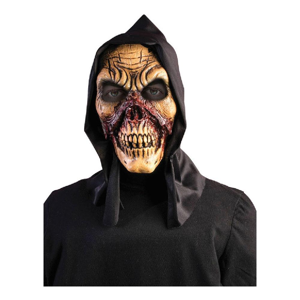 Blodig Dödskalle Mask med Huva - One size