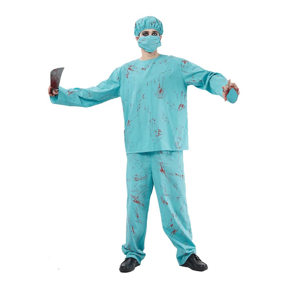 Blodig Kirurg Budget Maskeraddräkt - One size