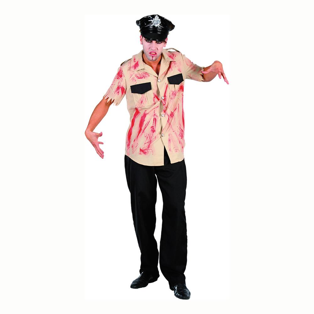 Maskeradkläder Vuxna - Blodig Polis  - One size