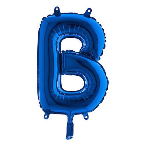 ?Bokstavsballong Mini Blå Metallic - Bokstav B