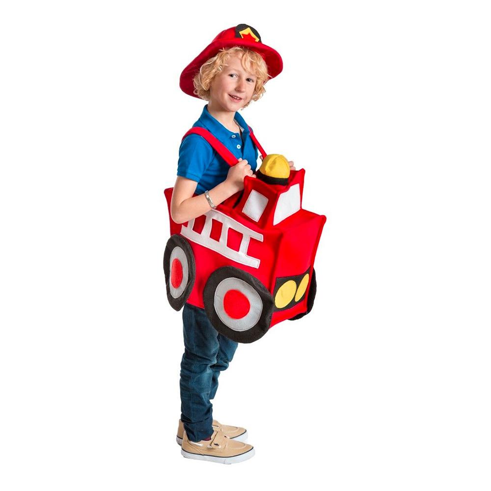 Brandbil Barn Maskeraddräkt - One size