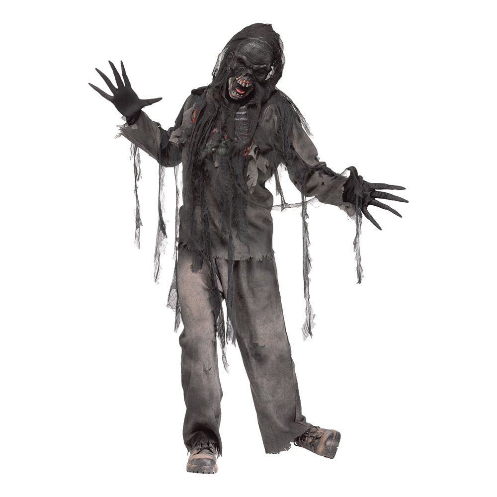 Brännskadad Zombie Maskeraddräkt - One size