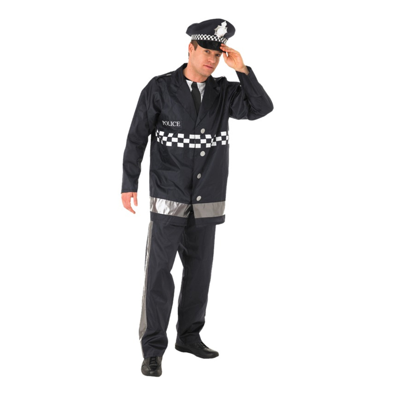 Brittisk Polisman Maskeraddräkt - Medium
