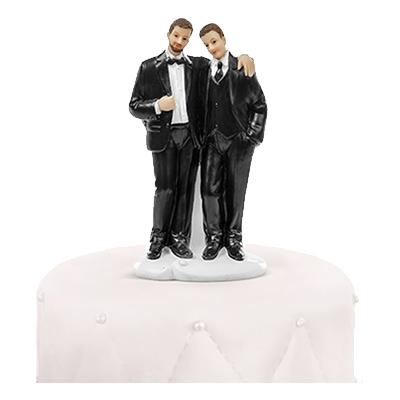 Bröllopsfigur Brudpar Män