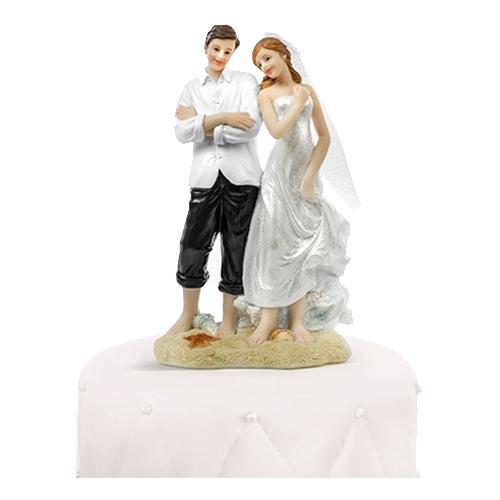 Bröllopsfigur Brudpar på Strand