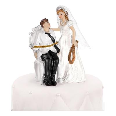 Bröllopsfigur Fastbunden Brudgum