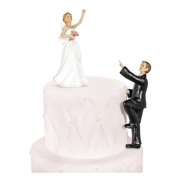 Bröllopsfigur Klättrande Brudgum