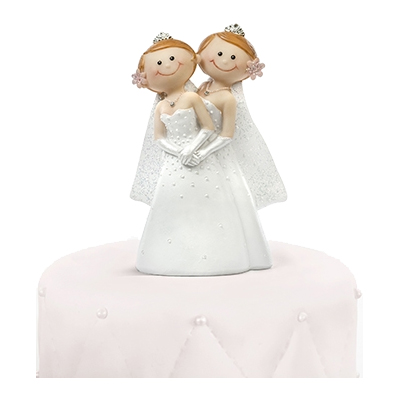 Bröllopsfigur Kvinnor Brudpar