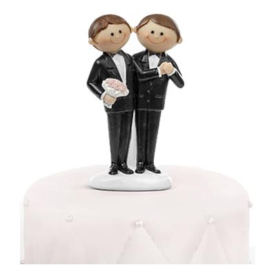 Bröllopsfigur Män Brudpar