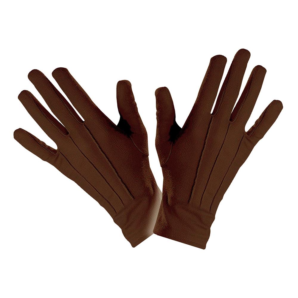 Bruna Handskar Ribbade