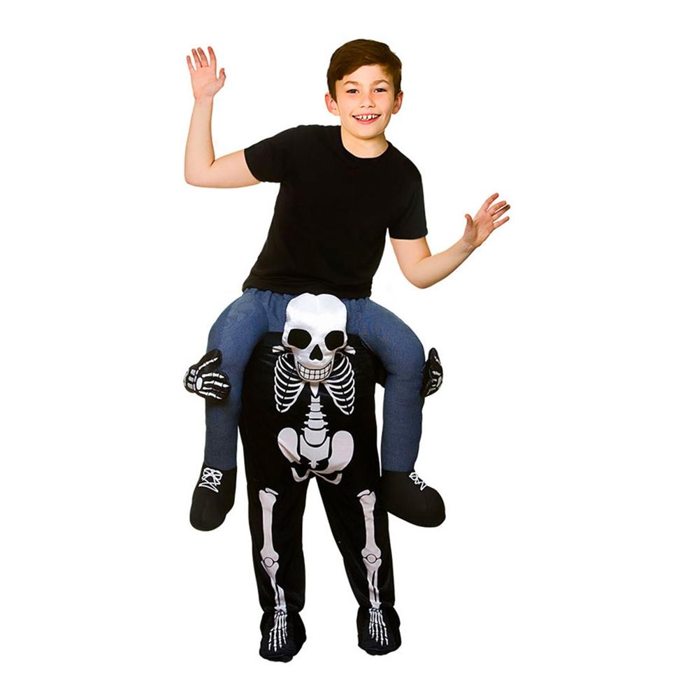 Carry Me Skelett Barn Maskeraddräkt - One size