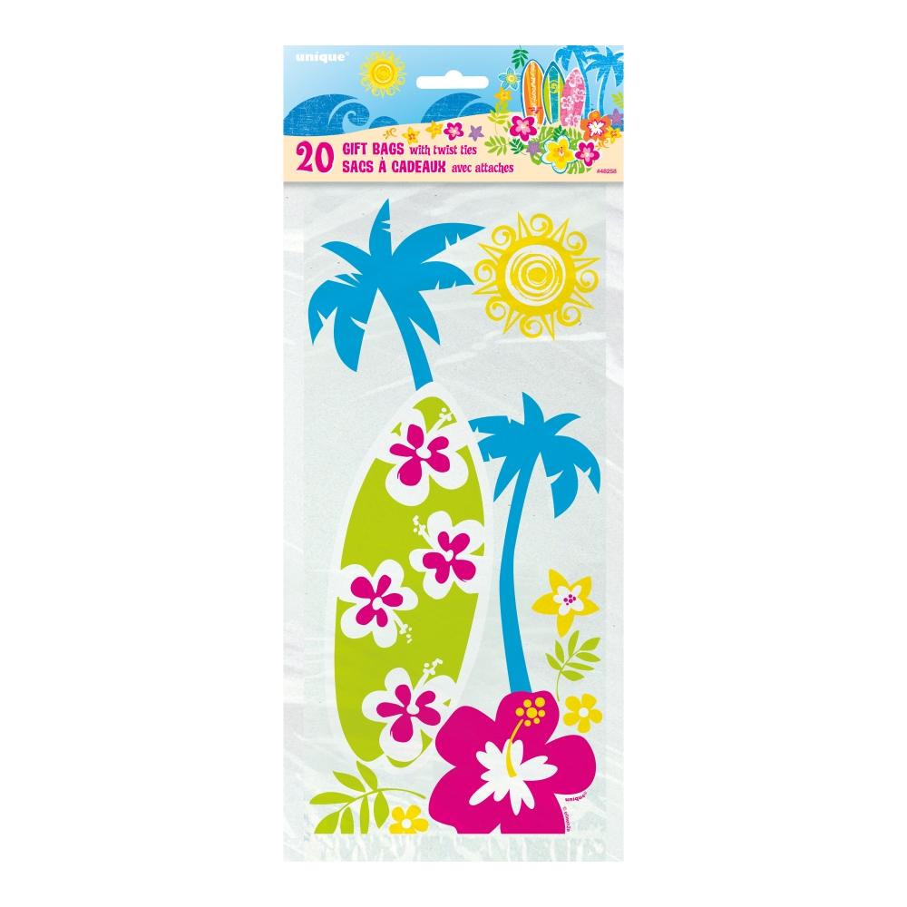 Cellofanpåsar Hawaii - 20-pack