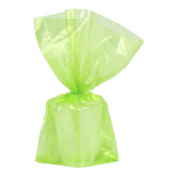 Cellofanpåsar Limegröna Stora - 25-pack