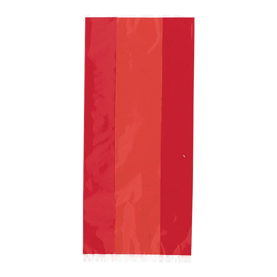 Cellofanpåsar Röda - 30-pack