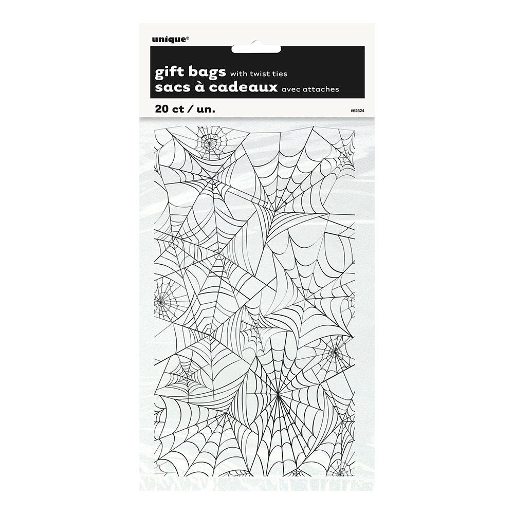 Cellofanpåsar Spindelnät - 20-pack