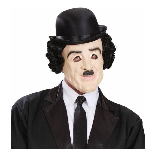 Charlie Chaplin Mask med Hår - One size