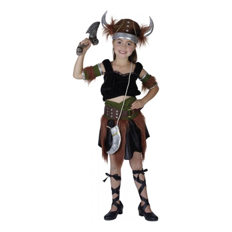 Vikingflicka Barn Maskeraddräkt - Medium