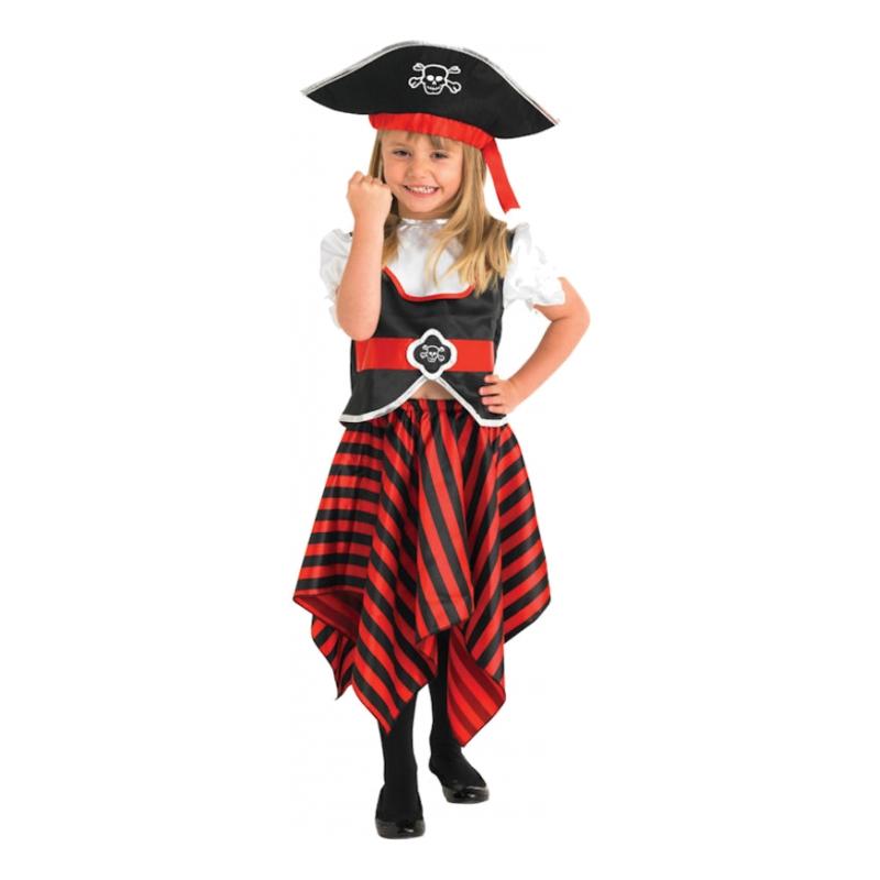 Söt Piratflicka Barn Maskeraddräkt - Small
