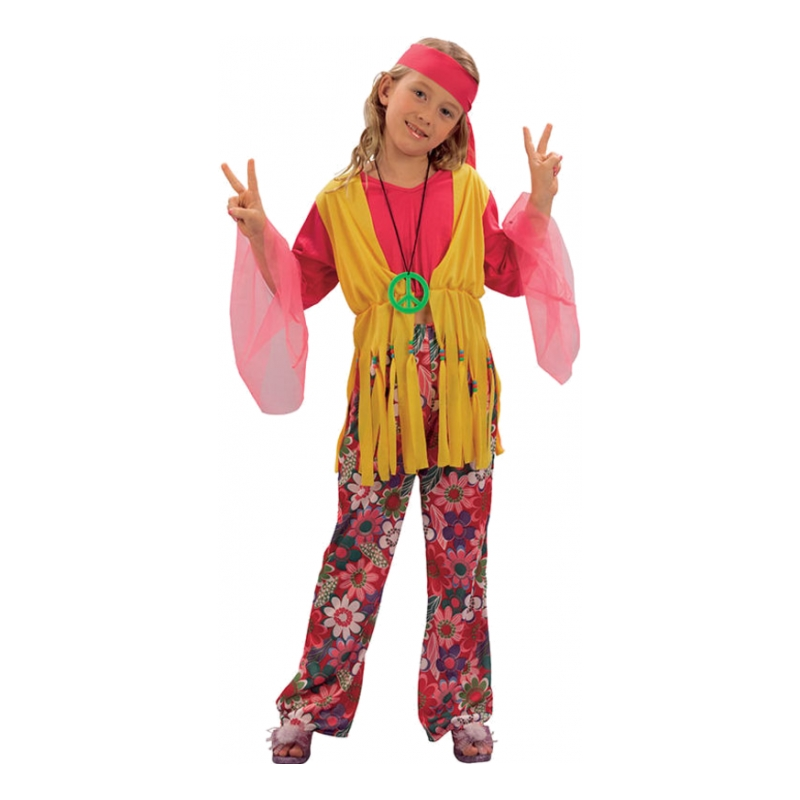 Hippieflicka Budget Barn Maskeraddräkt - Small