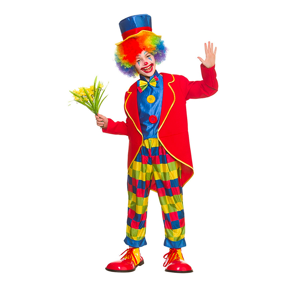 730c6d9f20e1 Cirkus Clown Barn Maskeraddräkt - Large Billigt | Småbarns Dräkter
