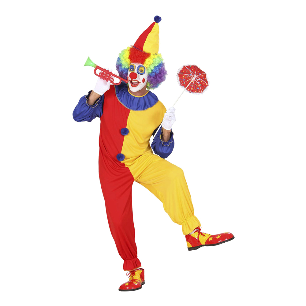 Clown Maskeraddräkt - Small