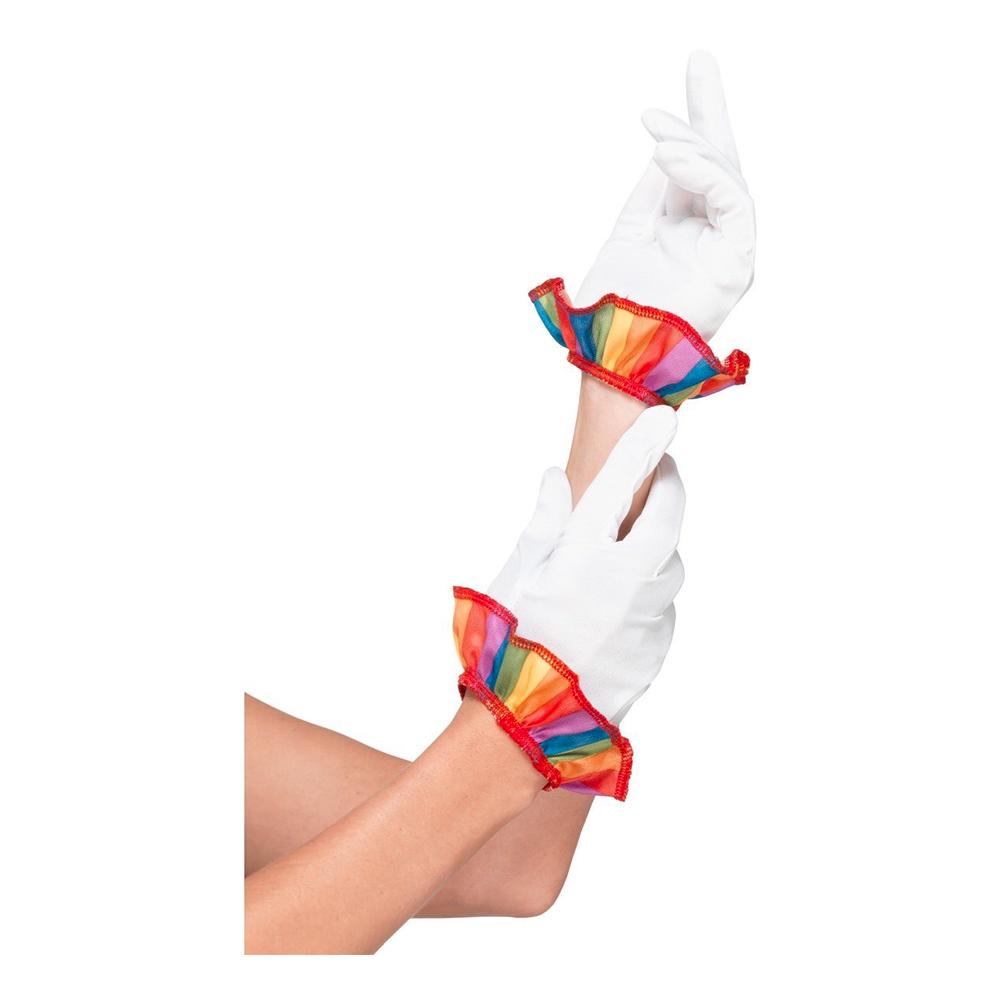 Clownhandskar Vita Korta - One size