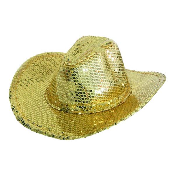 Cowboyhatt Guldpaljetter - One size
