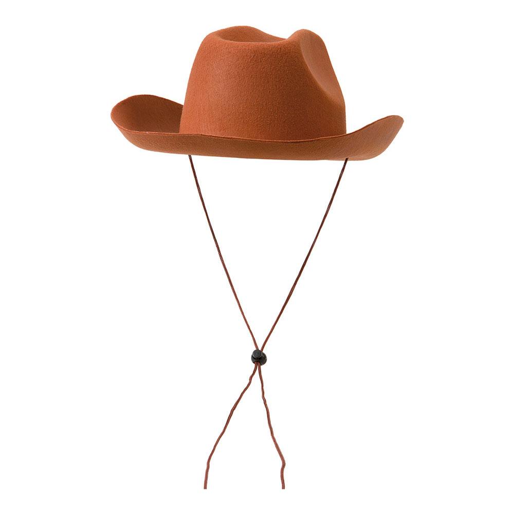 Cowboyhatt med Snöre Brun - One size