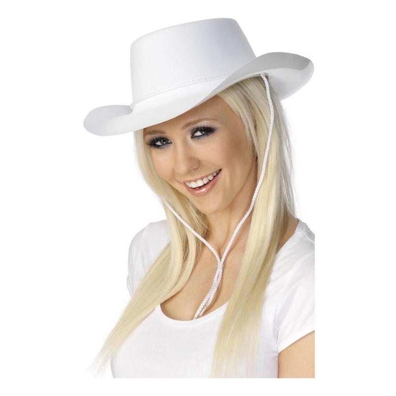 Cowboyhatt Vit - One size