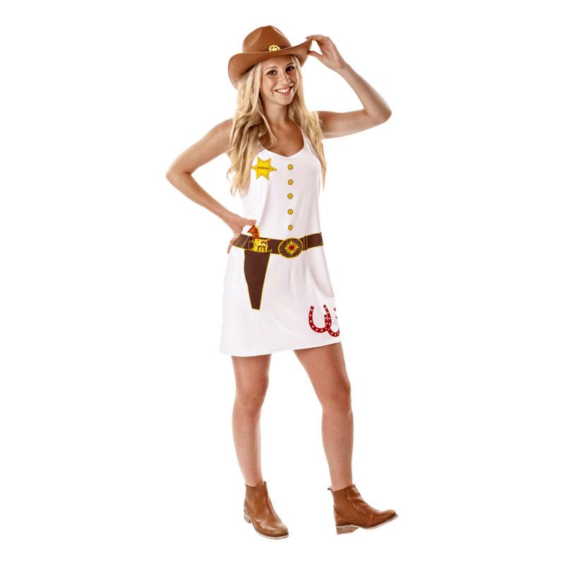 Cowboyklänning Maskeraddräkt - Large