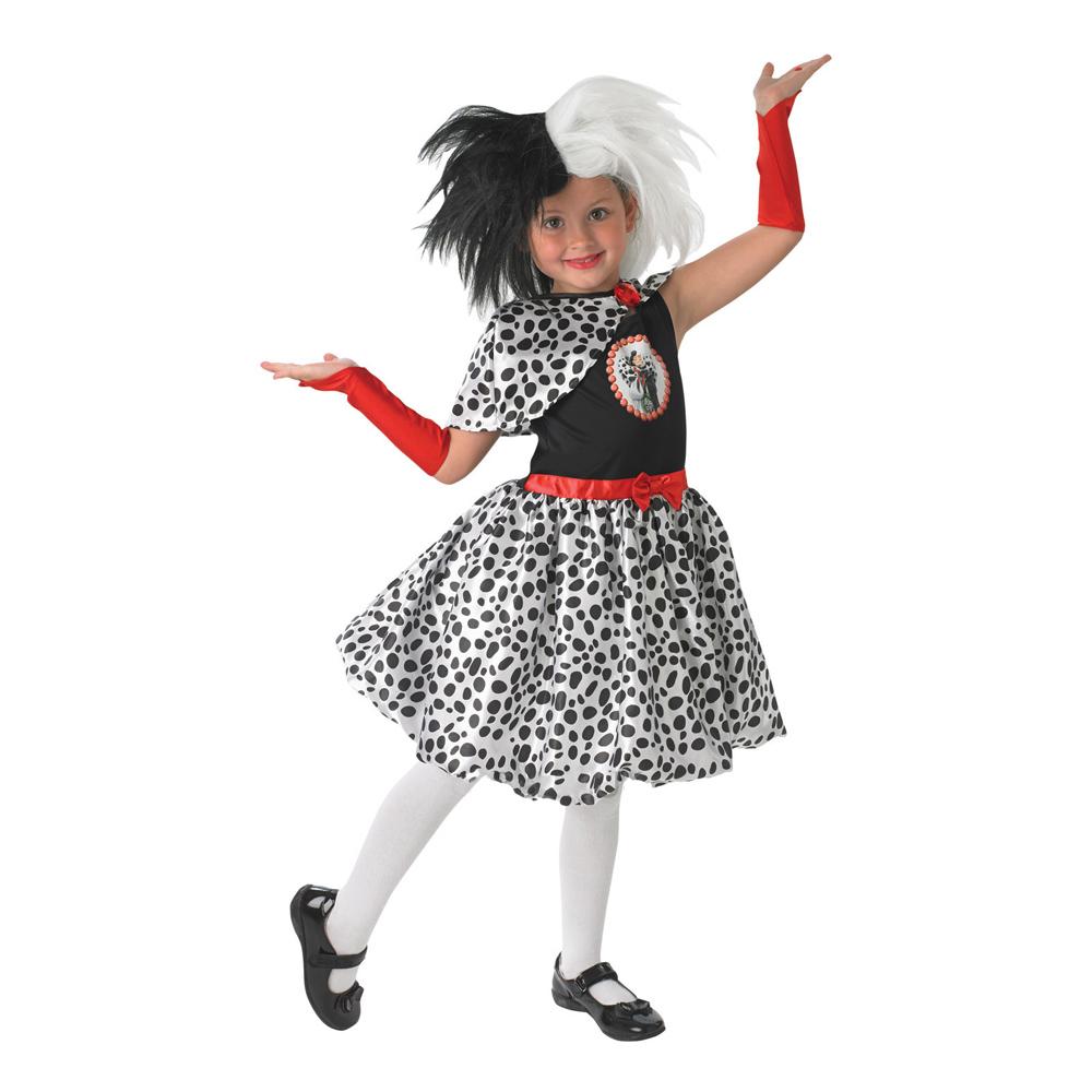 Cruella De Vil Barn Maskeraddräkt - Small