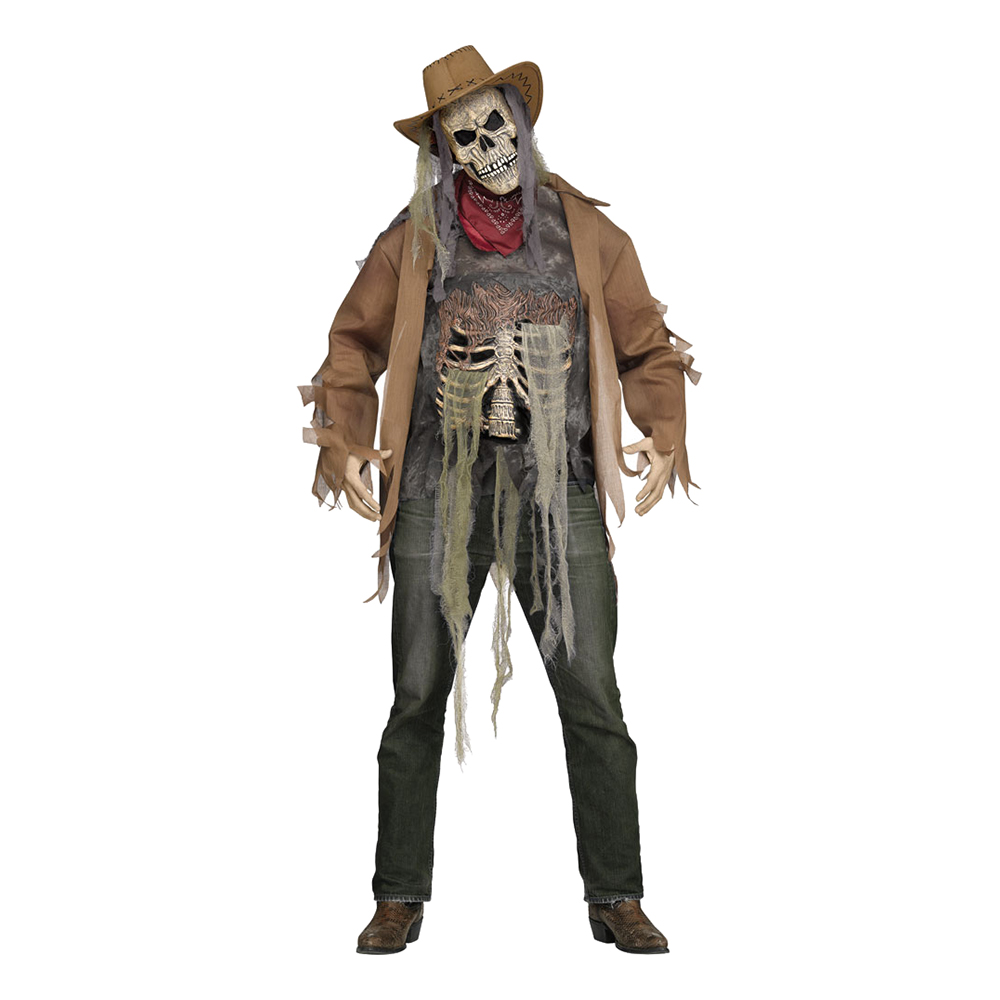 Cowboy Skelett Maskeraddräkt - One size