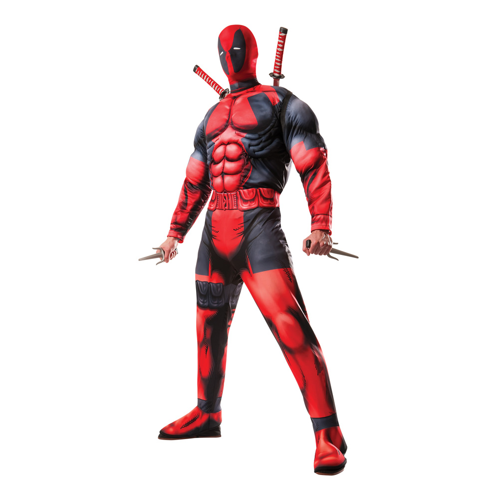 Deadpool Deluxe Maskeraddräkt - Standard