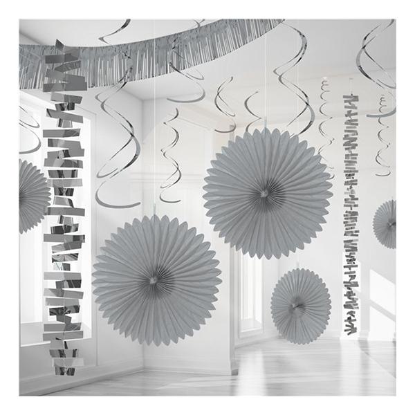 Dekorationskit Silver Metallic - 18-pack