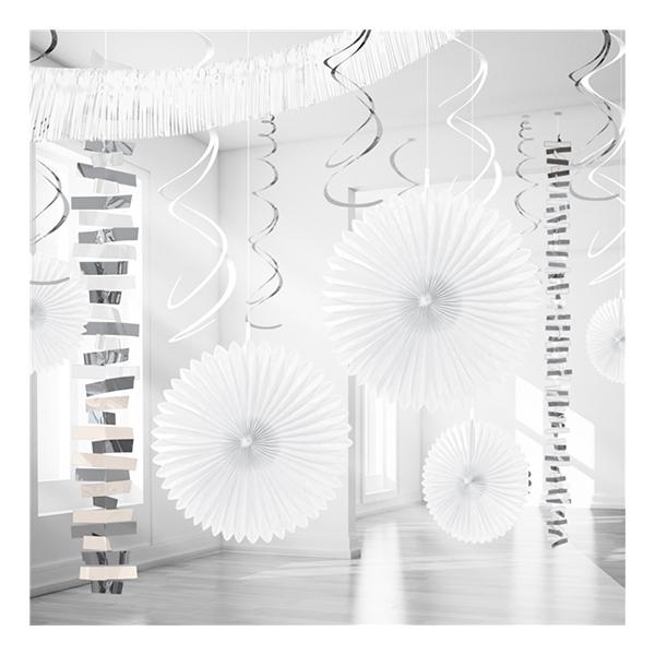Dekorationskit Vit Metallic - 18-pack