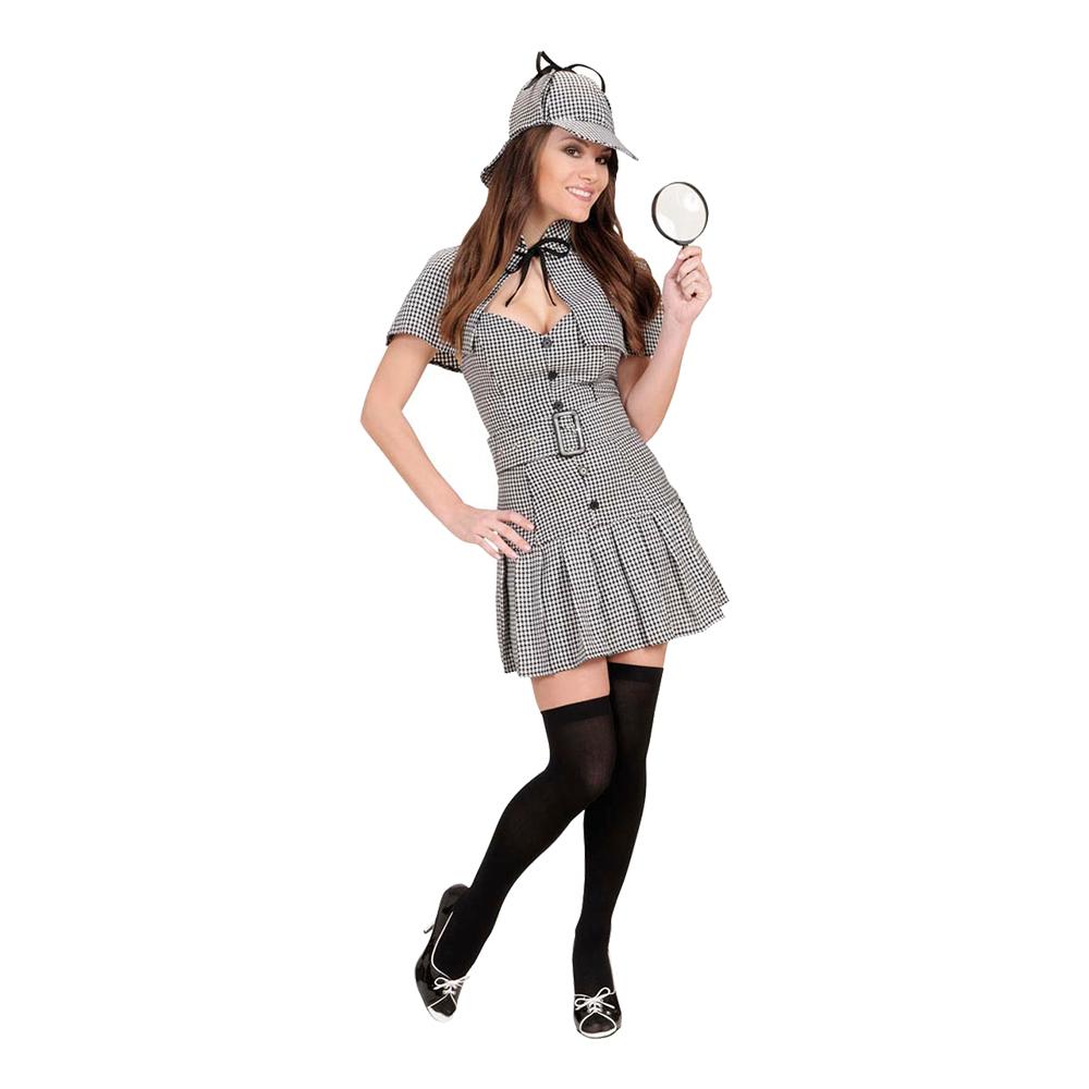 Detektiv Dam Maskeraddräkt - Small
